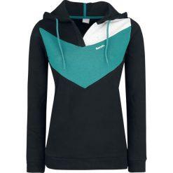 Bluzy damskie: Bench Colourblock-Hoodie Bluza z kapturem damska czarny/turkusowy/biały