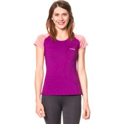 Koszulka funkcyjna w kolorze fioletowym. Fioletowe bluzki sportowe damskie Desigual Sport, m, z materiału. W wyprzedaży za 121,95 zł.