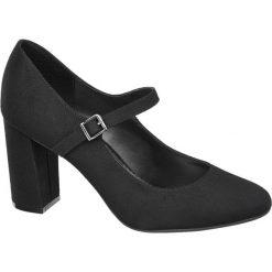 Czółenka damskie Graceland czarne. Czarne buty ślubne damskie Graceland, z materiału, na obcasie. Za 89,90 zł.