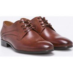Badura - Półbuty. Szare buty wizytowe męskie Badura, z materiału, na sznurówki. W wyprzedaży za 239,90 zł.