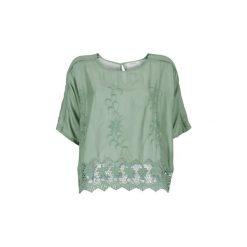 Bluzki Cream  SOMNOUDE. Zielone bluzki asymetryczne Cream. Za 216,30 zł.