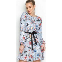 Niebieska Sukienka Florentin. Niebieskie sukienki hiszpanki Born2be, na lato, m, mini. Za 79,99 zł.