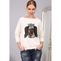 Bluzy damskie: Bluza Kremowa 752