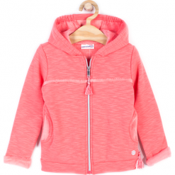 Bluza. Pomarańczowe bluzy dziewczęce rozpinane FOREST HEART, z bawełny, z długim rękawem, długie, z kapturem. Za 59,90 zł.