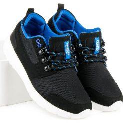 Wiązane obuwie męskie PILAR. Czarne buty skate męskie AX BOXING. Za 109,00 zł.