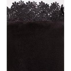 Lost Ink TENDER LACE TOP  Kozaki na obcasie black. Czarne buty zimowe damskie Lost Ink, z materiału, na obcasie. Za 379,00 zł.