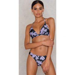 Stroje dwuczęściowe damskie: Wolf & Whistle Dół bikini Drawn Blossom – Black,Multicolor