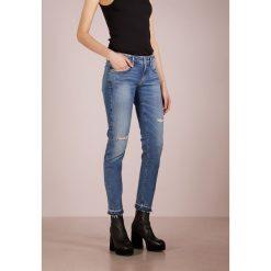 Agolde LARA LOWRISE SKINNY Jeans Skinny Fit badlands. Niebieskie jeansy damskie Agolde, z bawełny. Za 839,00 zł.