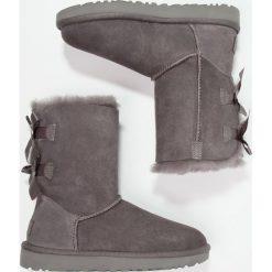 UGG BAILEY BOW Botki grey. Szare buty zimowe damskie Ugg, z materiału. Za 989,00 zł.