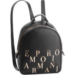 Plecak EMPORIO ARMANI - Y3L020 YH59A 80001 Nero. Szare plecaki damskie marki Emporio Armani, l, z dzianiny. Za 1139,00 zł.