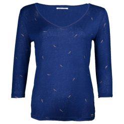 T-shirty damskie: T-shirt, dekolt w serek, zwierzęcy nadruk,długi rękaw