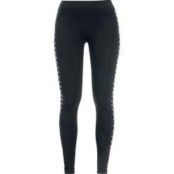 Spodnie damskie: Urban Classics Ladies Side Rivets Leggings Legginsy czarny