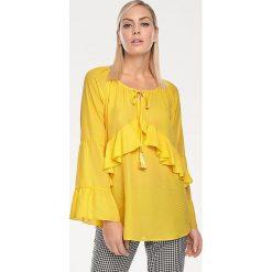 Odzież damska: Bluzka w kolorze żółtym