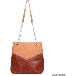 Torebka skórzana GRACE 00-235-0404-E15-04106. Brązowe shopper bag damskie marki N/A, w kolorowe wzory. Za 339,00 zł.