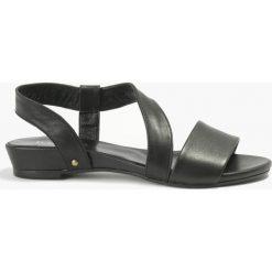 Rzymianki damskie: Sandały czarne Nita