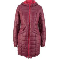 Płaszcz pikowany dwustronny bonprix czerwono-bordowy. Czerwone płaszcze damskie bonprix. Za 229,99 zł.