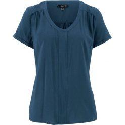 Tunika koszulowa, krótki rękaw bonprix ciemnoniebieski. Niebieskie tuniki damskie bonprix, z koszulowym kołnierzykiem, z krótkim rękawem. Za 27,99 zł.