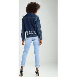 Bomberki damskie: NORR DEA  Kurtka jeansowa dark blue
