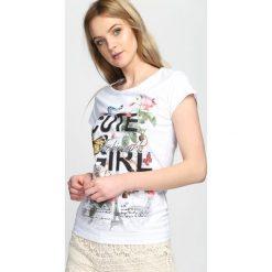 Biały T-shirt Cute Girl. Białe bluzki damskie Born2be, l. Za 9,99 zł.