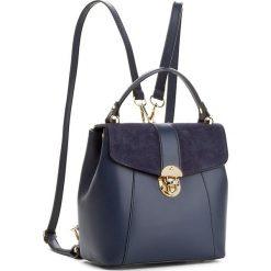Plecak CREOLE - K10419  Granat. Niebieskie plecaki damskie Creole, ze skóry, eleganckie. W wyprzedaży za 219,00 zł.
