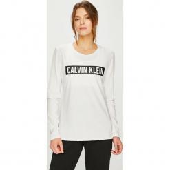 Calvin Klein Performance - Bluzka. Szare bluzki asymetryczne Calvin Klein Performance, l, z nadrukiem, z bawełny, z okrągłym kołnierzem. Za 229,90 zł.