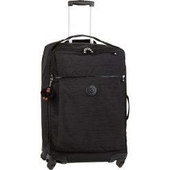 """Walizka """"Darcey M"""" w kolorze czarnym - 67 x 43 x 26 cm. Czarne walizki marki Kipling, w paski, z materiału. W wyprzedaży za 318,95 zł."""