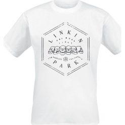 T-shirty męskie z nadrukiem: Linkin Park One More Light Skulls T-Shirt biały