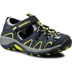 Sandały męskie skórzane: Sandały MERRELL - H2O Hiker MC54859 Navy/Lime