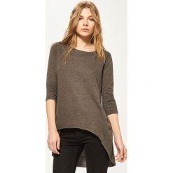 Bluzki, topy, tuniki: Koszulka z asymetrycznym dołem – Szary