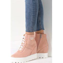 Sneakersy damskie: Różowe Sneakersy Your Heart