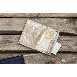 Portfele damskie: MIKRO PLUS / Gold - portfel ze skóry