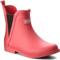 Kalosze BIG STAR - AA274983 Red. Czerwone buty zimowe damskie marki BIG STAR, z materiału, retro, na obcasie. W wyprzedaży za 119,00 zł.