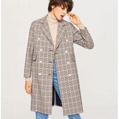 Płaszcz w kratę - Wielobarwn. Szare płaszcze damskie pastelowe Reserved. W wyprzedaży za 199,99 zł.