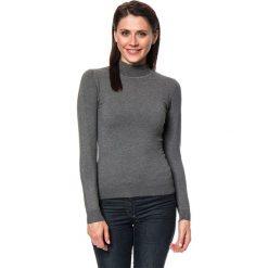 Golfy damskie: Sweter w kolorze antracytowym