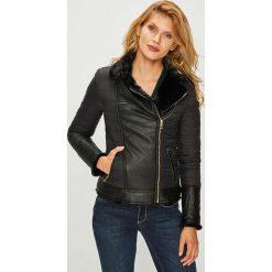 Guess Jeans - Kurtka dwustronna Allegra. Czarne bomberki damskie Guess Jeans, l, z aplikacjami, z jeansu. Za 769,90 zł.