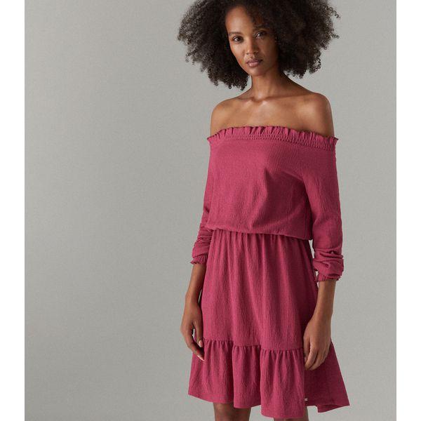 d8bbdeb1 Sukienka hiszpanka z długimi rękawami - Różowy
