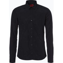 HUGO - Koszula męska – Ero3, czarny. Niebieskie koszule męskie na spinki marki HUGO, m, z bawełny. Za 549,95 zł.