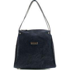 Torebki klasyczne damskie: Skórzana torebka w kolorze niebieskim – (S)23 x (W)25 x (G)13 cm