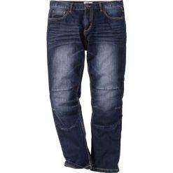 Dżinsy Regular Fit Straight bonprix ciemnoniebieski. Niebieskie jeansy męskie regular bonprix. Za 109,99 zł.