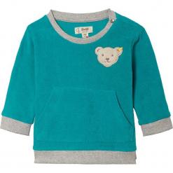 Bluza w kolorze turkusowym. Niebieskie bluzy chłopięce marki Steiff, z bawełny. W wyprzedaży za 65,95 zł.