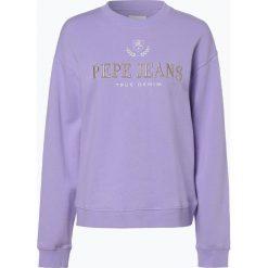 Pepe Jeans - Damska bluza nierozpinana – Celi, lila. Niebieskie bluzy damskie Pepe Jeans, xs, z haftami, z jeansu. Za 309,95 zł.