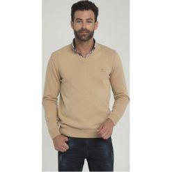 Sir Raymond Tailor Sweter Męski Tour M Beżowy. Brązowe swetry klasyczne męskie Sir Raymond Tailor, m, z bawełny. Za 145,00 zł.