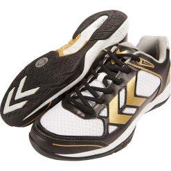 """Buty sportowe """"Omnicourt Z4 Trophy"""" w kolorze czarno-białym. Brązowe halówki męskie marki Reebok, z materiału. W wyprzedaży za 209,95 zł."""