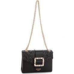 Torebka GUESS - HWVG69 97780 BLA. Czarne torebki klasyczne damskie Guess, z aplikacjami, ze skóry ekologicznej. Za 449,00 zł.