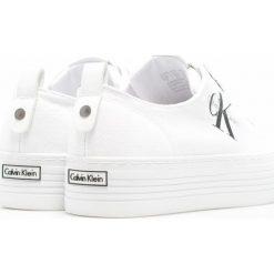 Calvin Klein Jeans - Tenisówki. Szare tenisówki damskie marki Calvin Klein Jeans, z jeansu. Za 359,90 zł.