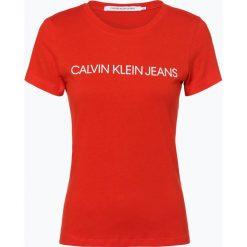 Calvin Klein Jeans - T-shirt damski, pomarańczowy. Brązowe t-shirty damskie marki Calvin Klein Jeans, m, z jeansu. Za 99,95 zł.