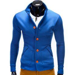 Bluzy męskie: BLUZA MĘSKA ROZPINANA BEZ KAPTURA CARMELO – NIEBIESKA