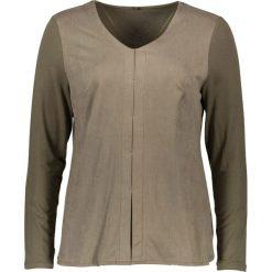 Koszulka piżamowa w kolorze khaki. Brązowe koszule nocne i halki Naturana. W wyprzedaży za 117,95 zł.