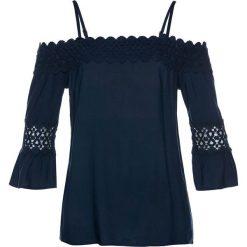 Tunika z koronką bonprix ciemnoniebieski. Niebieskie tuniki damskie bonprix, w koronkowe wzory, z koronki, na ramiączkach. Za 79,99 zł.