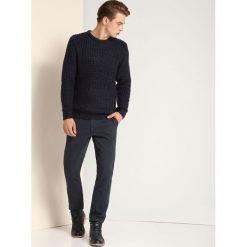 SWETER DŁUGI RĘKAW MĘSKI. Szare swetry klasyczne męskie Top Secret, na jesień, m, z golfem. Za 39,99 zł.